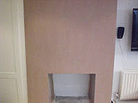 The Fulham plasterer plastering a fireplace in SW6