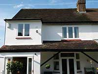 Painted house exterior Sheen SW14